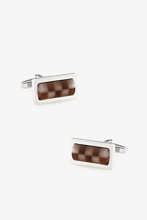 Translucent Checkered Cufflinks