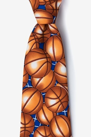 Basketballs Brown Tie