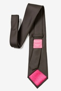 Chocolate Brown Textured Long Tie