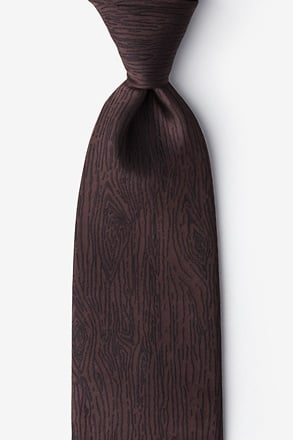 Wood Grain Extra Long Tie