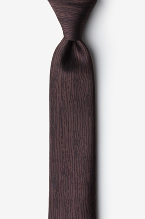 _Wood Grain Brown Skinny Tie_