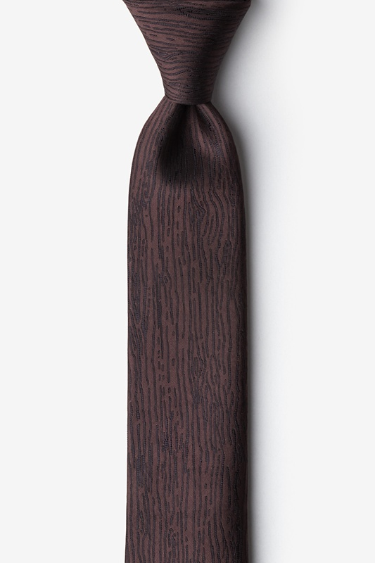 Wood Grain Skinny Tie Photo (0)