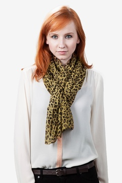 Cape Town Leopard Brown Scarf