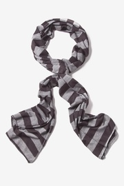 Brown Polyester Caravan Stripe Scarf