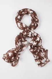 Brown Polyester Out Of Africa Scarf