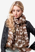 Out Of Africa Brown Scarf by Scarves.com