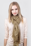 Safi Studded Brown Scarf by Scarves.com