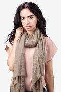 Taza Studded Brown Scarf by Scarves.com