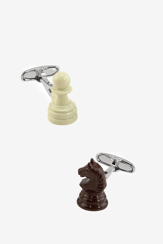 Chess Pieces Cufflink by Alynn Novelty