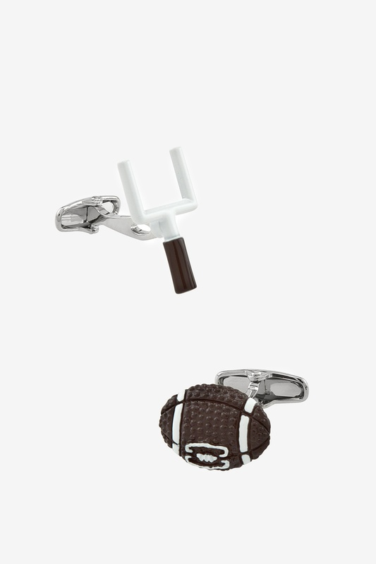 Football & Goal Post Cufflink by Alynn Novelty