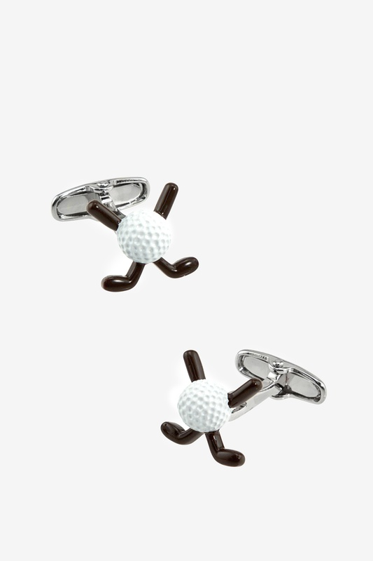 Golf Ball & Clubs Cufflink by Alynn Novelty