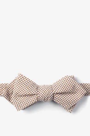 Brown Chamberlain Check Diamond Tip Bow Tie