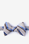 Brown Silk Bann Bow Tie