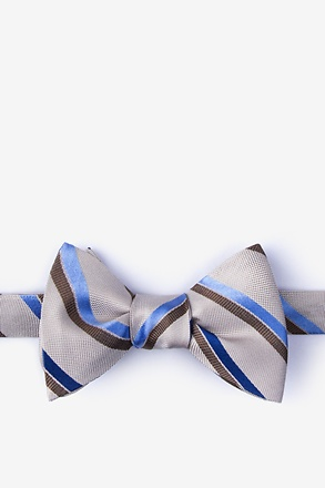_Bann Brown Self-Tie Bow Tie_