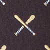 Brown Silk Batter Up Tie