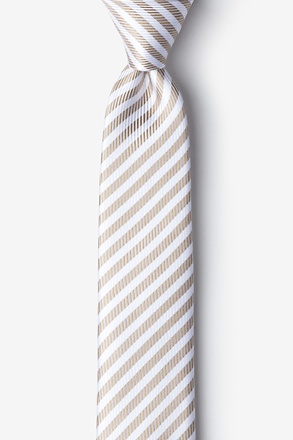 Bear Island Brown Skinny Tie