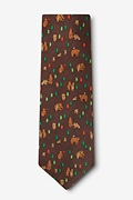 Bear Necessities Brown Extra Long Tie Photo (1)