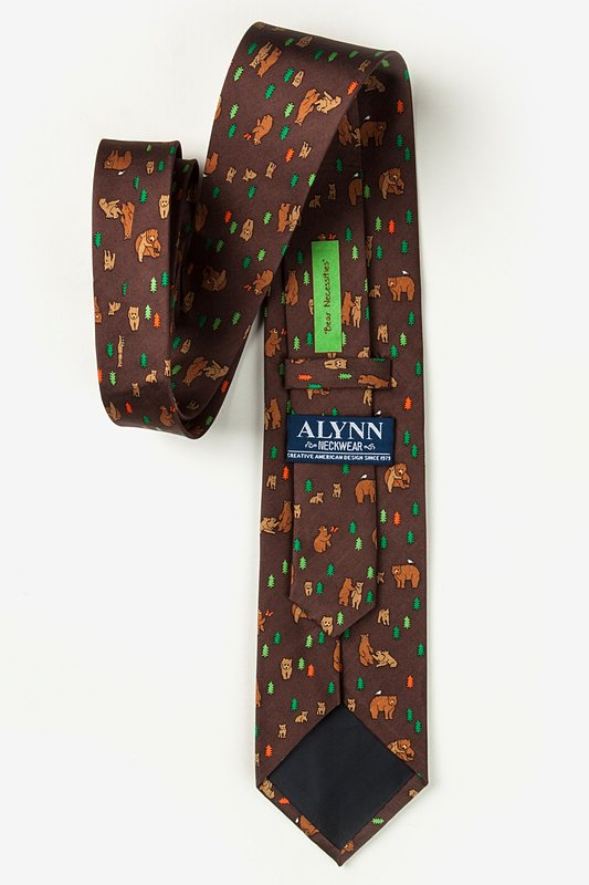 Bear Necessities Brown Extra Long Tie Photo (2)