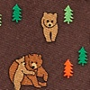 Brown Silk Bear Necessities Tie