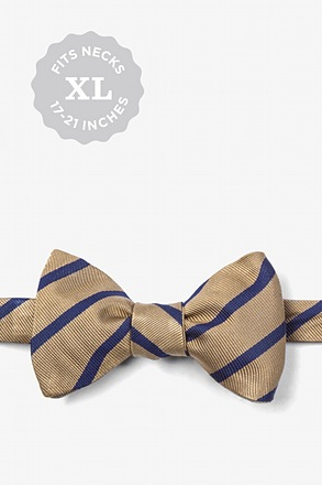 Brown Balboa Stripe Self-Tie Bow Tie