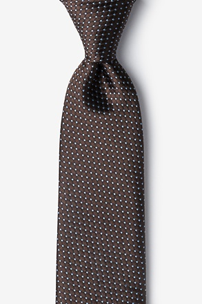 Buton Brown Tie