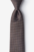 Brown Silk Groote Extra Long Tie