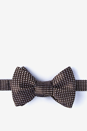 Groote Brown Self-Tie Bow Tie