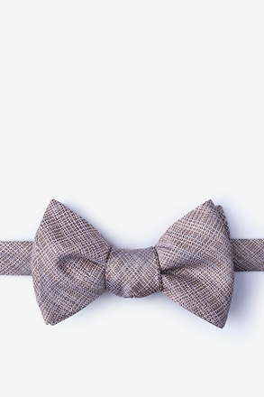 _Java Brown Self-Tie Bow Tie_