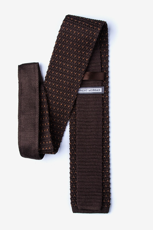 Laos Brown Knit Tie Photo (1)