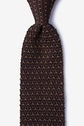 Laos Brown Knit Tie Photo (0)