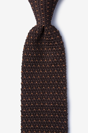 _Laos Brown Knit Tie_