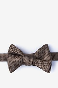 Brown Silk Quartz Self-Tie Bow Tie