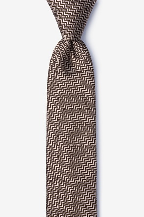 _Quartz Brown Skinny Tie_