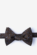 Brown Silk Tully Self-Tie Bow Tie