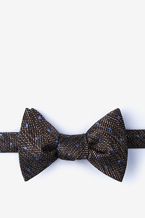 _Tully Brown Self-Tie Bow Tie_