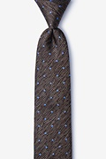 Brown Silk Tully Skinny Tie