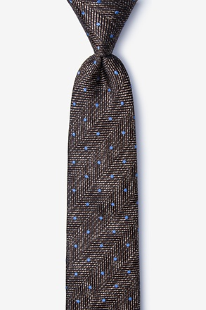 _Tully Brown Skinny Tie_
