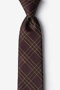 Brown Silk Unimak Extra Long Tie