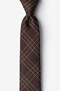 Brown Silk Unimak Skinny Tie