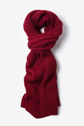 Burgundy Kingston Knit Scarf