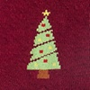 Burgundy Carded Cotton Christmas Tree Women's Sock