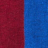 Burgundy Carded Cotton Fullerton Split Sock