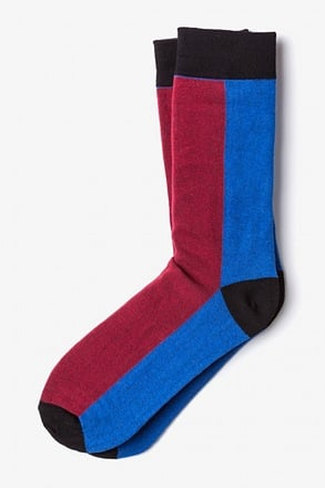 _Fullerton Split Burgundy Sock_