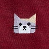 Burgundy Carded Cotton Kitty Cat Sock