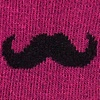 Burgundy Carded Cotton Mustache Sock