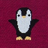 Burgundy Carded Cotton Penguins are Chill Sock