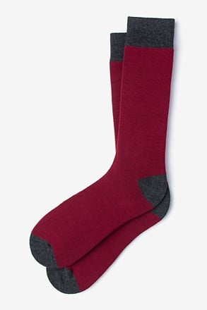Solid Choice Burgundy Sock