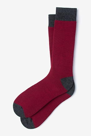 _Solid Choice Burgundy Sock_