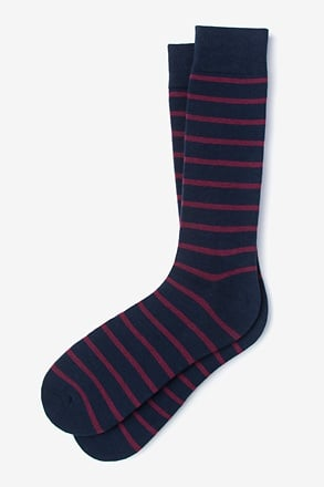 Virtuoso Stripe Burgundy Sock