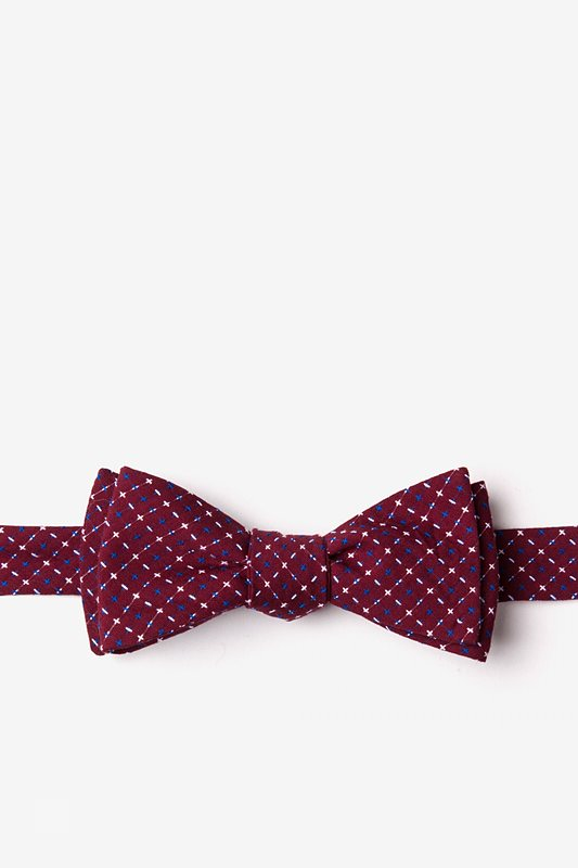 Ashland Burgundy Skinny Bow Tie Photo (0)